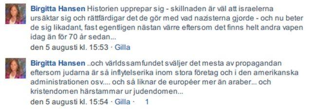 Birgitta Hansen Uttalande