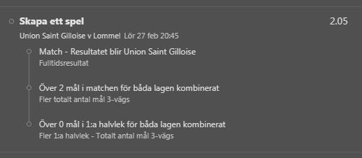 Gilloise vs Lommel